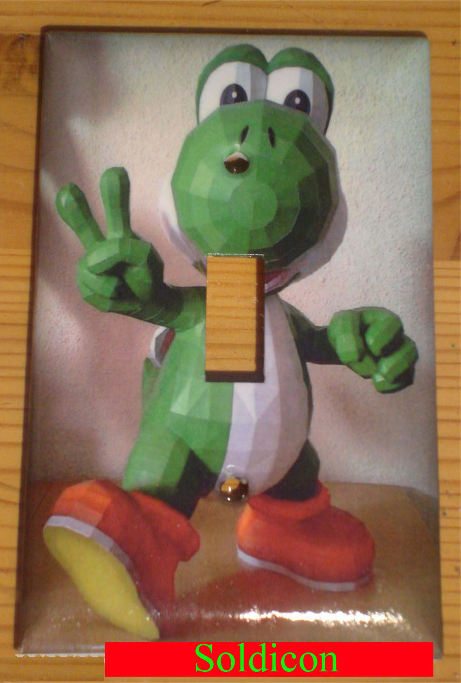 Super Mario Yoshi Light Switch and Duplex Outlet Cover Plate