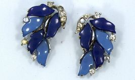 Lisner Big, Bold, Blue Earrings - $12.99