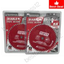"""(New) Diablo CERMET 7-1/4"""" x 48T Steel Demon Circular Saw Blade (Pack of 2) - $62.36"""