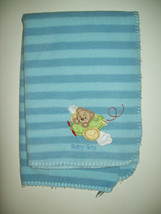 "Circo Baby Blanket 30""X40"" Blue Striped  Bear  Crib Blanket  - $284,70 MXN"