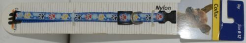 Canine Country 39401 Adjustable Dog Collar Blue Toy Size 8 12 Nylon Package 1