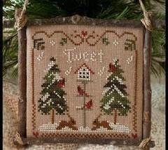 Cardinal Winter Ornament 2011 Series #1 pattern Little House Needleworks - $5.40
