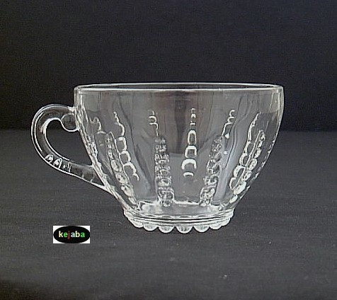 Columbia Crystal Cup And Saucer Federal