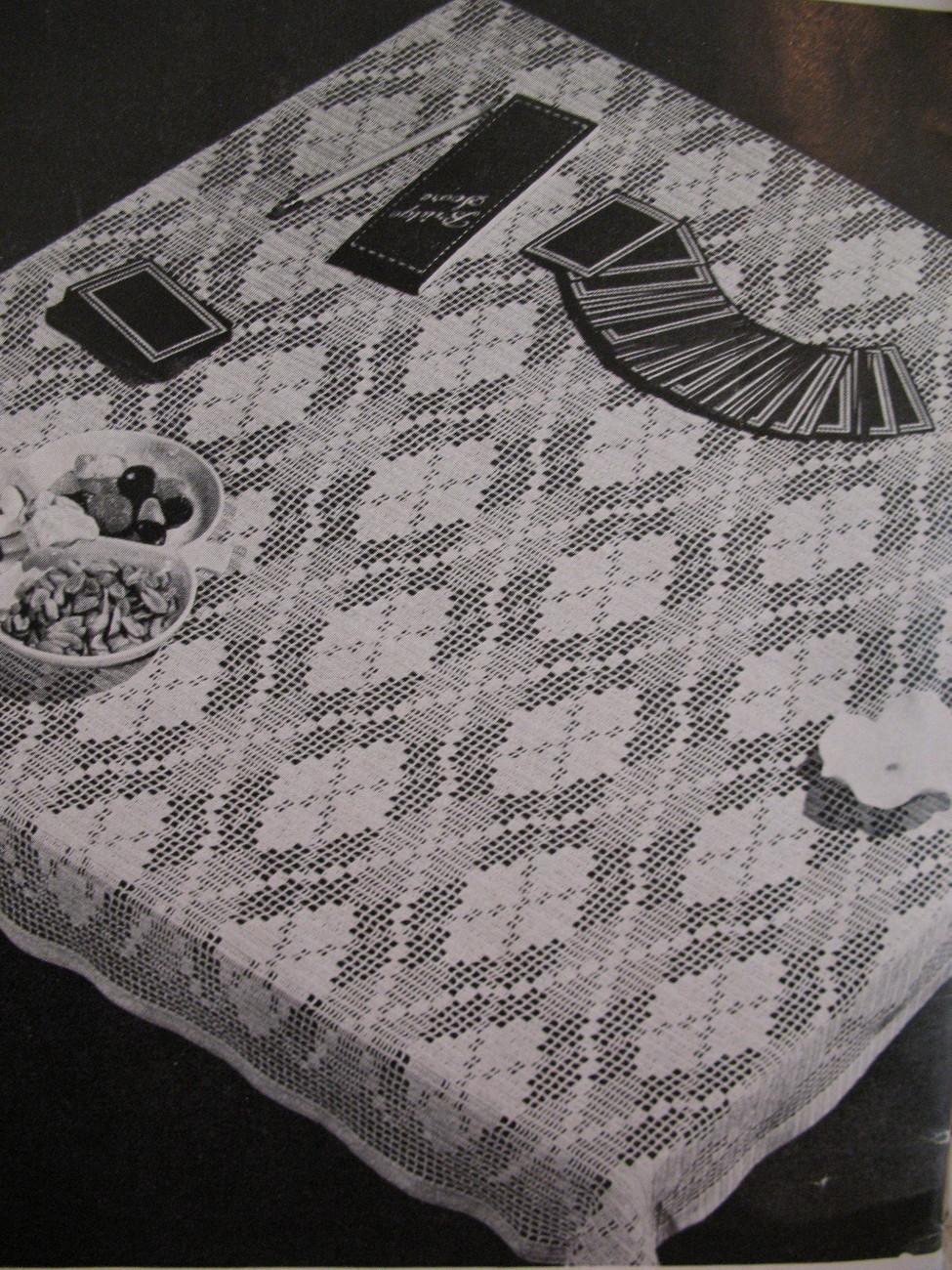 Vintage 1948 Crochet Tablecloth Pattern Booklet