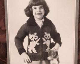 Vintage Patons Beehive Knitting Patterns CHILDRENS Cardigan Sweater KITT... - $6.95