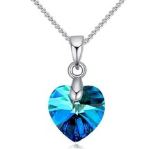 SHDEDE Heart Necklace Pendant Crystals From Swarovski For Women Girls Gi... - $9.56