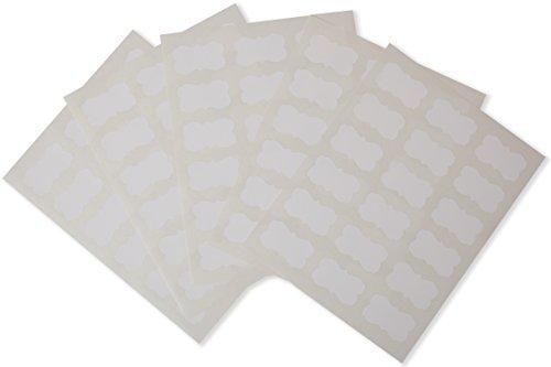 Waterproof Essential Oil Labels - 90 Scallops - Oil-Proof - Highly Durable - Str