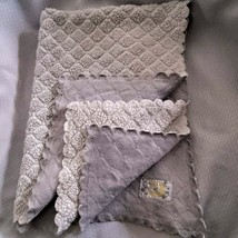 Just Born Gray White Scalloped Moon Star White Yellow Satin Patch Baby B... - $59.39