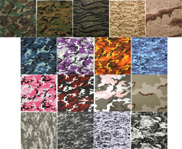 "Camo Bandanas 22"" x 22"" Cotton Camouflage Tactical Military Army Biker Head - $7.99"