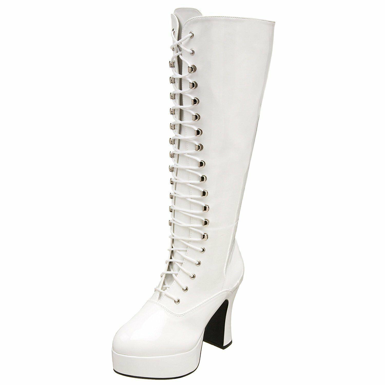 "FUNTASMA Exotica-2020X 4"" Heel Closed Toe Calf-High Boot 10"