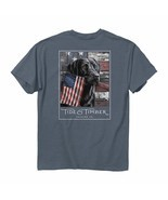 Tide & Timber Red White and True Black Lab Dog Labrador American Flag Sh... - $27.98