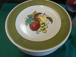 "Great Poppy Trail By Metlox ""Provincial Fruit"" Set Of 10 Dinner Plates - $56.02"