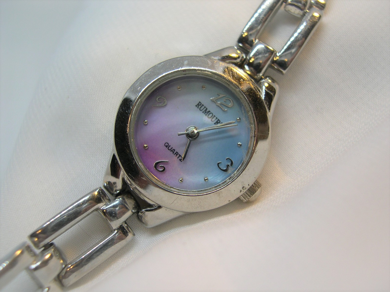 "Primary image for L66, RUMOURS, Petite Ladies Watch, Blue & Pink Face, 6.5"" Bracelet Band w/b"