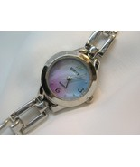 "L66, RUMOURS, Petite Ladies Watch, Blue & Pink Face, 6.5"" Bracelet Band w/b - $15.69"
