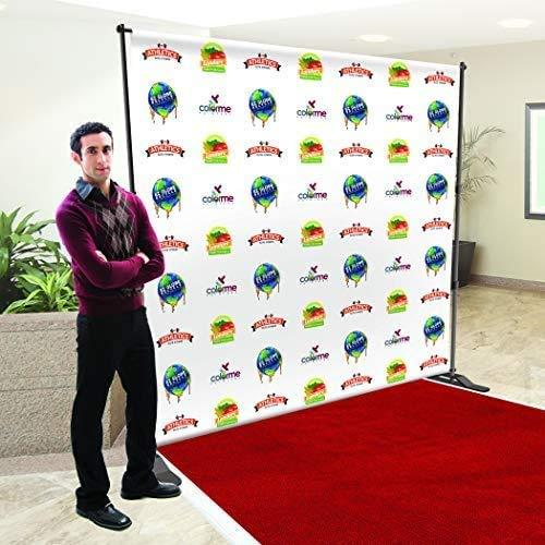 Step and Repeat Backdrop Customizable 9 oz. Wrinkle Free Fabric (Polyester) Stan