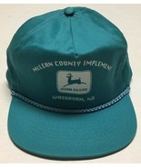 Vtg McLean County Implement Hat Washburn North Dakota Cap John Deere Equ... - $25.24