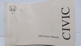 2003 Honda Civic Owners Manual 72679 - $48.99