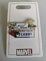Thor And Loki Will Trade Brother For Candy Marvel Halloween Disney Pin T... - $15.83