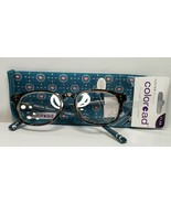 Womens Foster Grant Reading Glasses +1.25 Elodie Brown Tortoise Teal Gre... - $15.43