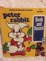 PETER PAN Peter Rabbit Book And Record 45 RPM  - $5.48