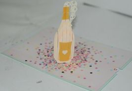 Lovepop LP1935 Champagne Pop Up Card Green Envelope Paper Cellophane Wrapped image 5