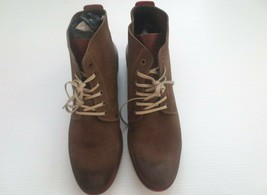 Kenneth Cole New York Smart Alec Suede Boot Men Shoes - Olive - Size 11.5 - NEW - $44.99
