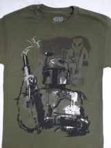 Star Wars Boba Fett Collecting The Bounty Military Green T-Shirt S Small - $14.00