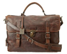 Frye Men's Brown Logan Buckle Briefcase - $444.51