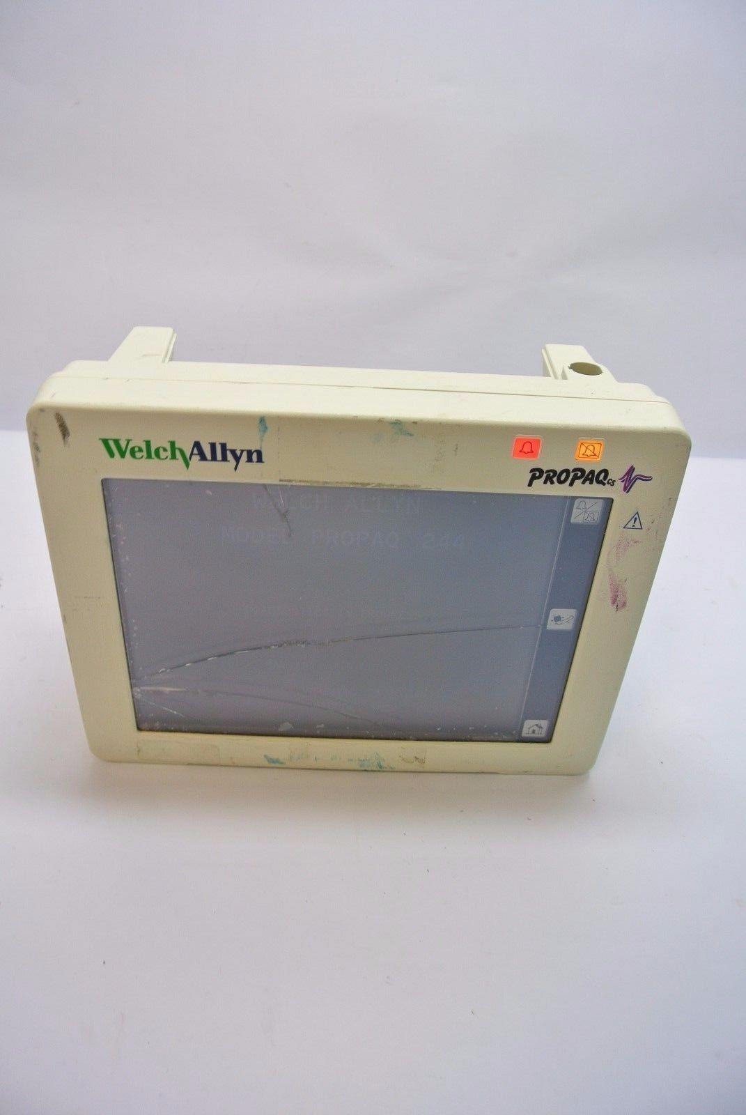 Welch Allyn ProPaq cs Patient Monitor 244 - Cracked Glass (007-0060-02)