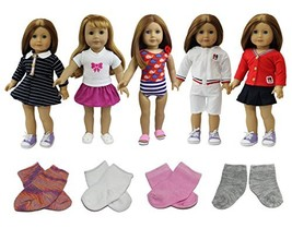 ZITA ELEMENT Doll Clothes- Lot 8 Daily Costumes Gown Clothes+Socks fit f... - $28.76