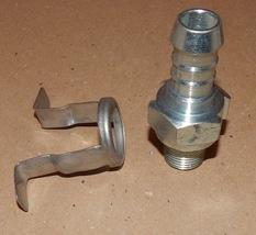 "Band-It Tri-Lokt Machined Male Hose Nipple & Yoke Plated Steel 3/4"" x 1/... - $9.49"