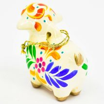 Handcrafted Painted Ceramic Sheep Lamb Confetti Series Ornament Made in Peru image 4