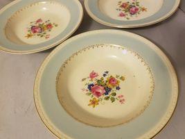 Homer Laughlin Soup Bowls Eggshell Georgian China Robin Egg Blue Set of 3 image 7