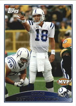 2009 Topps #321 Peyton Manning MVP > Colts > Tennessee Volunteers > Vols > UT - $0.99