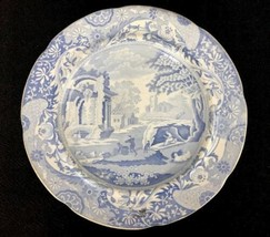 Antique 19th C. Staffordshire Blue Scenic Transferware Plate Wood and Challinor - $51.46