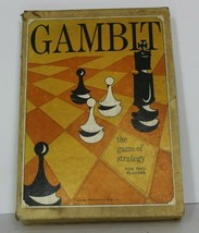 New RARE 1965 Vintage Gambit Game of Strategy by Universal Games poor Co... - $50.44