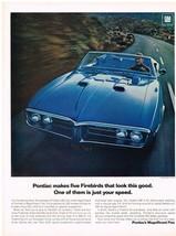 Vintage 1967 Magazine Ad Pontiac Magnificent Five Firebird 400 Is #1 of Fab Five - $5.93