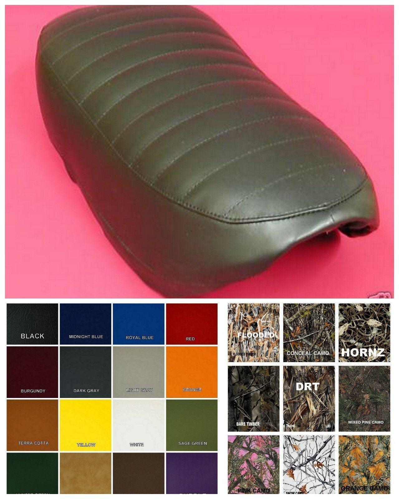 Primary image for HONDA CT70 Trail 70 Seat Cover 1977 1978 1979  in 25 COLORS & Patterns    (W/E)