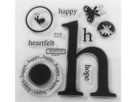 """Close to My Heart Solo """"H"""" Clear Acrylic Stamp Set #B1232"""