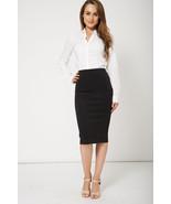 Ladies Classic Black Pencil Skirt  Size 20 NEW - $13.02