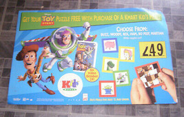 Toy Story Kmart Kids Meal Slider Puzzle Display Poster 1990s - $38.99
