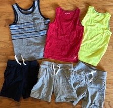 BABY GAP Tank Top + Knit Pull On Shorts Lot of 6 - Summer Outfits Blue G... - $37.62