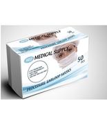 MADE IN USA 50 PCS GRAY Color Face Mask Mouth & Nose Protector Respirato... - $13.98