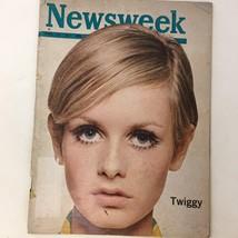 Newsweek Magazine Twiggy Photograph Camaro Volkswagen Advertising Vintag... - $13.53