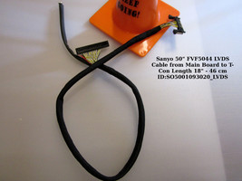 """Sanyo 50"""" FVF5044 LVDS Cable from Main Board to T-Con Length 18"""" - 46 cm - $13.98"""