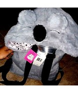 Luv Betsey Johnson Grey Plush Hooded Backpack Koala Bear Hoodie New Book... - $47.51