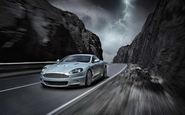 2012 ASTON MARTIN BLURRED MOUNTAINS POSTER 24 x 36 INCH | AWESOME! | - $18.99