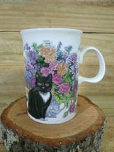 Dunoon China Mug Cats, Flowers & Butterflies Made in Scotland - $18.00