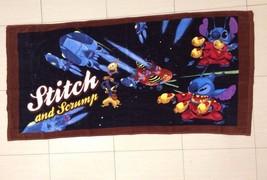 Disney Lilo Stitch Experiment Bath Towel soft touch. Space Adventure Theme.RARE - $39.99