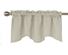 Deconovo Blackout Window Valance for Kitchen Solid Rod Pocket Scalloped ... - $11.36